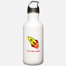 R Is For Rocket! Water Bottle