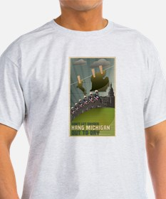 Michigan Hung Out to Dry T-Shirt