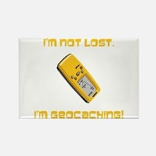 I'm not lost. I'm geocaching. Rectangle Magnet