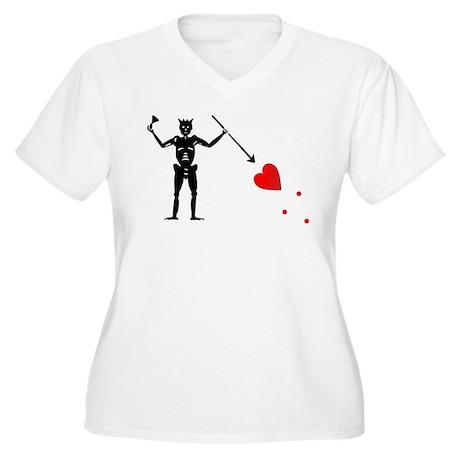 Blackbeard Women's Plus Size V-Neck T-Shirt