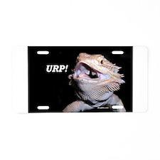 Beardie Burps! Aluminum License Plate