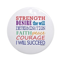 Encouraging Words Ornament (Round)