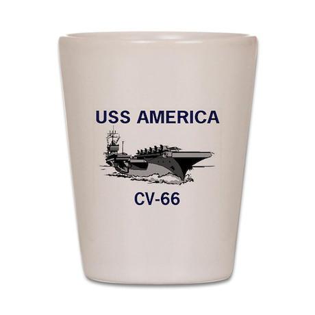 USS AMERICA CV-66 Shot Glass