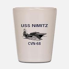USS NIMITZ Shot Glass
