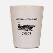 USS THEODORE ROOSEVELT Shot Glass