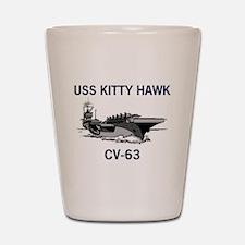 USS KITTY HAWK Shot Glass
