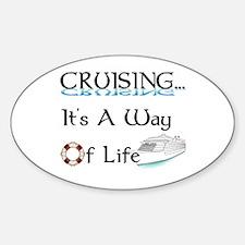 Cruising... A Way of Life Sticker (Oval)