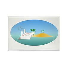 Island Cruise Rectangle Magnet