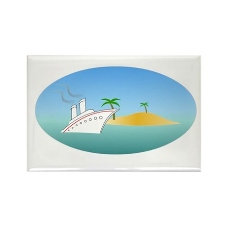 Island Cruise Rectangle Magnet