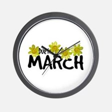 Due in March - Daffodils Wall Clock