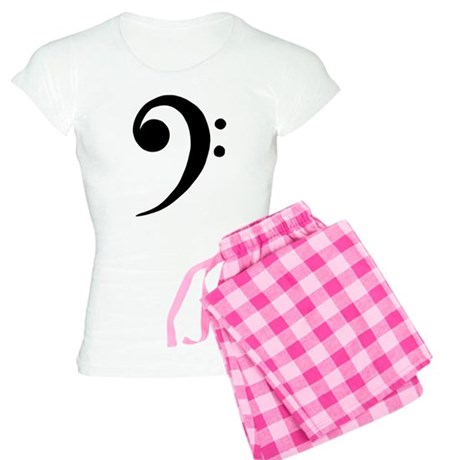Music Clef Sign Womens PJ Plaid Pajamas
