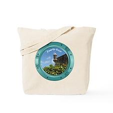 Puerto Rico Porthole Tote Bag