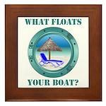What Floats Your Boat Framed Tile
