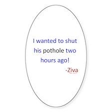 Shut Pothole Decal