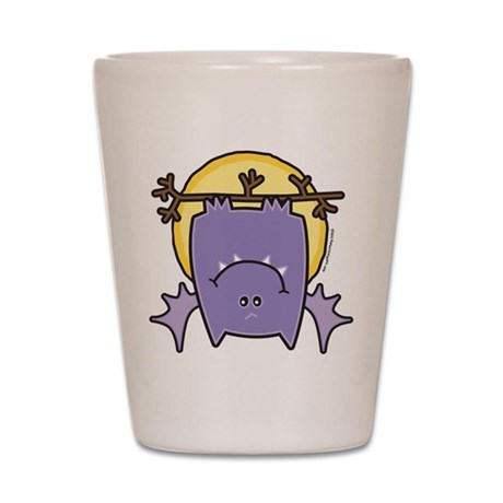 Purple Bat Shot Glass