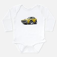 1970 AMX Yellow-Black Car Long Sleeve Infant Bodys