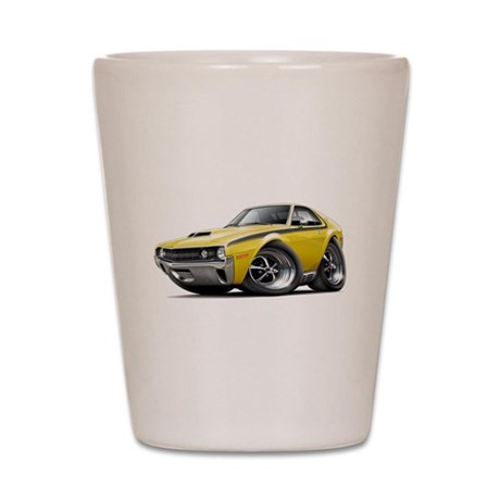 1970 AMX Yellow-Black Car Shot Glass