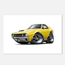 1970 AMX Yellow Car Postcards (Package of 8)
