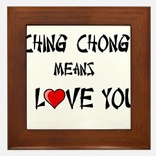 Ching Chong Framed Tile