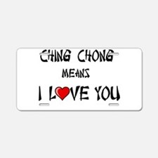 Ching Chong Aluminum License Plate