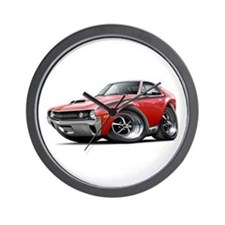 1970 AMX Red-White Car Wall Clock