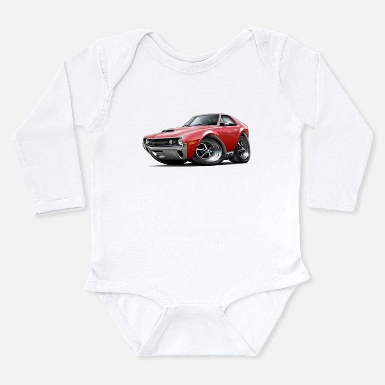 1970 AMX Red Car Long Sleeve Infant Bodysuit