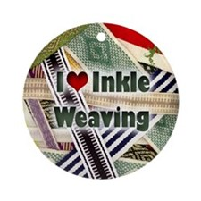 I Love Inkle Weaving Ornament (Round)