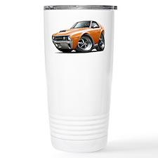 1970 AMX Orange-White Car Travel Mug