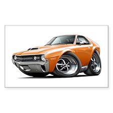 1970 AMX Orange-White Car Decal