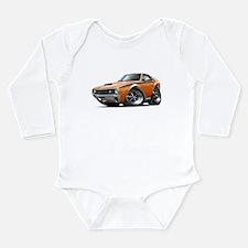 1970 AMX Orange-Black Car Long Sleeve Infant Bodys