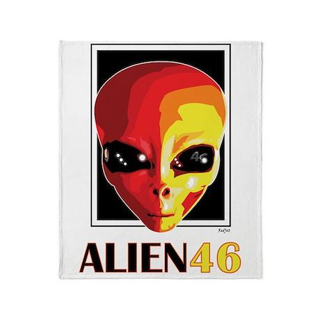 Alien 46 Valentino Rossi Throw Blanket