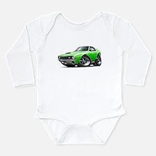 1970 AMX Lime-White Car Long Sleeve Infant Bodysui