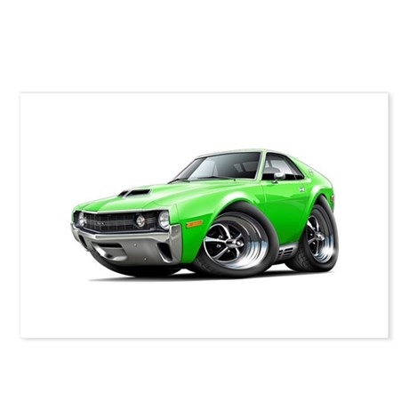 1970 AMX Lime Car Postcards (Package of 8)