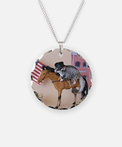 Cowboy Necklace Circle Charm