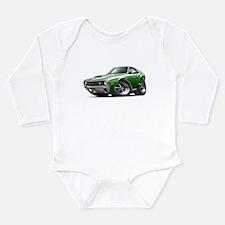 1970 AMX Green-White Car Long Sleeve Infant Bodysu