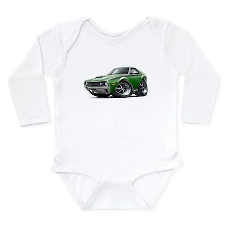 1970 AMX Green-Black Car Long Sleeve Infant Bodysu