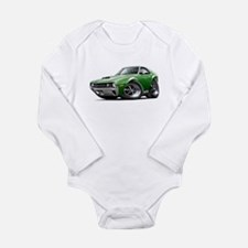 1970 AMX Green Car Long Sleeve Infant Bodysuit