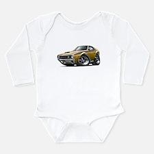 1970 AMX Gold-Black Car Long Sleeve Infant Bodysui