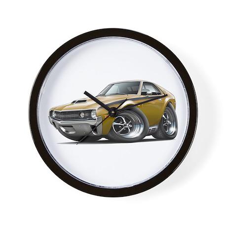 1970 AMX Gold-Black Car Wall Clock