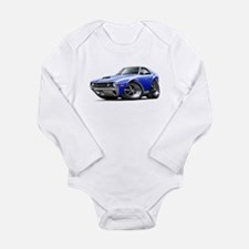 1970 AMX Blue-White Car Long Sleeve Infant Bodysui