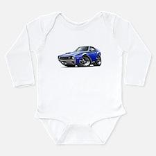 1970 AMX Blue-Black Car Long Sleeve Infant Bodysui