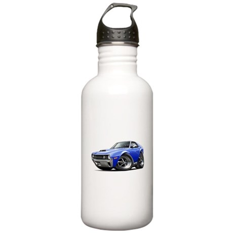 1970 AMX Blue Car Stainless Water Bottle 1.0L