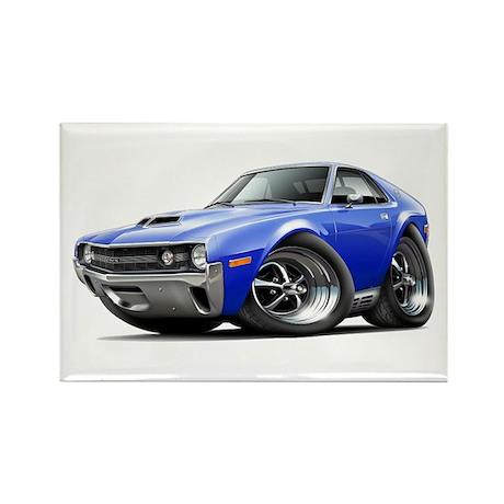 1970 AMX Blue Car Rectangle Magnet