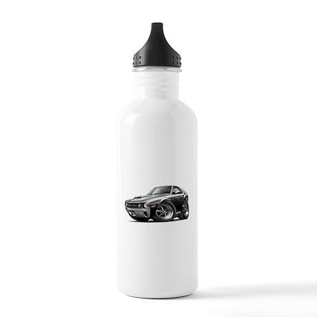 1970 AMX Black-White Car Stainless Water Bottle 1.