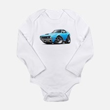 AMX Big Bad Blue Car Long Sleeve Infant Bodysuit