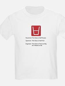 Glass Too Big Kids T-Shirt