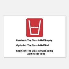 Glass Too Big Postcards (Package of 8)