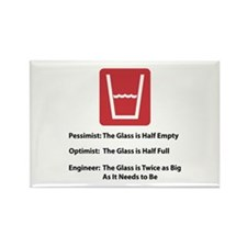 Glass Too Big Rectangle Magnet