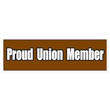 Proud Union Member Bumper Bumper Sticker