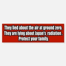 Nuclear Japan Fukusima Radiation Bumper Bumper Bumper Sticker